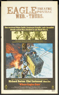 """Movie Posters:War, Where Eagles Dare (MGM, 1968). Window Card (14"""" X 22""""). War Action.Starring Richard Burton, Clint Eastwood, Mary Ure, Patri..."""