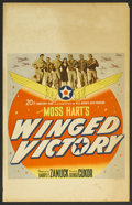 "Movie Posters:War, Winged Victory (20th Century Fox, 1944). Window Card (14"" X 22"").War. Starring Mark Daniels, Lon McCallister, Don Taylor, R..."