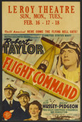 "Movie Posters:War, Flight Command (MGM, 1940). Window Card (14"" X 22""). War. StarringRobert Taylor, Ruth Hussey, Walter Pidgeon, Paul Kelly, S..."