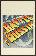 "Movie Posters:Documentary, The Battle of Russia (20th Century Fox, 1943). Window Card (14"" X 22""). War Documentary. Directed by Frank Capra and Anatole..."