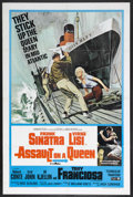 "Movie Posters:Crime, Assault on a Queen (Paramount, 1966). One Sheet (27"" X 41""). Crime Adventure. Starring Frank Sinatra, Virna Lisi, Anthony Fr..."