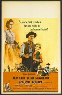 "Proud Rebel (Buena Vista, 1958). Window Card (14"" X 22""). Western. Starring Alan Ladd, Olivia de Havilland, De..."