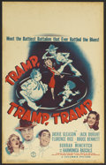 "Movie Posters:Comedy, Tramp, Tramp, Tramp (Columbia, 1942). Window Card (14"" X 22""). Comedy. Starring Jackie Gleason, Jack Durant, Florence Rice, ..."