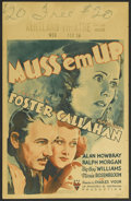 "Movie Posters:Mystery, Muss 'em Up (RKO, 1936). Window Card (14"" X 22""). Mystery. Starring Preston S. Foster, Margaret Callahan, Alan Mowbray, Ralp..."