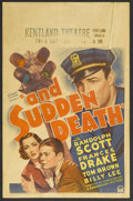 """Movie Posters:Mystery, And Sudden Death (Paramount, 1936). Window Card (14"""" X 22"""").Mystery. Starring Randolph Scott, Frances Drake, Tom Brown, Bil..."""