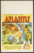 "Movie Posters:Adventure, Atlantis, the Lost Continent (MGM, 1961). Window Card (14"" X 22"").Starring Anthony Hall, Joyce Taylor, John Dall and Willia..."