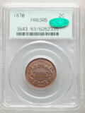 1870 2C PR63 Red and Brown PCGS. CAC. PCGS Population: (41/228). NGC Census: (14/122). CDN: $410 Whsle. Bid for NGC/PCGS...