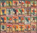 """Non-Sport Cards:Sets, 1934 R142 Goudey """"Soldier Boys"""" Complete Set (24) with Duplicates (32). ..."""