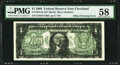 (Matte) Offset Printing of Front to Back Error Fr. 1934-D $1 2009 Federal Reserve Note. PMG Choice About Unc 58