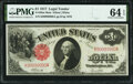 Large Size:Legal Tender Notes, Near Solid Serial Number 99999990 Fr. 38 $1 1917 Mule Legal Tender PMG Choice Uncirculated 64 EPQ.. ...