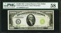 Fr. 2221-K $5,000 1934 Federal Reserve Note. PMG Choice About Unc 58