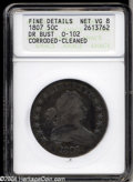 Early Half Dollars: , 1807 50C Draped Bust--Corroded, Cleaned--ANACS. Fine ...
