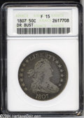 Early Half Dollars: , 1807 50C Draped Bust Fine 15 ANACS. O-102, R.2. Olive and ...