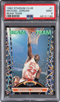 Basketball Cards:Singles (1980-Now), 1992 Stadium Club Michael Jordan (Beam Team) #1 PSA Mint 9....