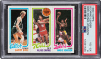 1980 Topps Larry Bird/Julius Erving/Magic Johnson PSA VG-EX 4