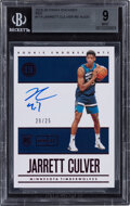 Basketball Cards:Singles (1980-Now), 2019 Panini Encased Jarrett Culver (Red) #114 BGS Mint 9, Auto 10 - #'d 20/25....