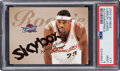 Basketball Cards:Singles (1980-Now), 2003 Skybox Autographics LeBron James #77 PSA Mint 9 - Serial Numbered 1076/1500. ...