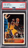 Basketball Cards:Singles (1980-Now), 1996 Topps Kobe Bryant #138 PSA Gem MT 10. ...
