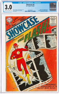 Showcase #4 The Flash (DC, 1956) CGC GD/VG 3.0 Cream to off-white pages