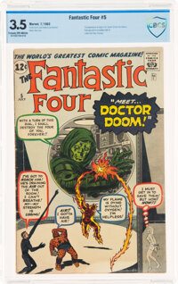 Fantastic Four #5 (Marvel, 1962) CBCS VG- 3.5 Cream to off-white pages