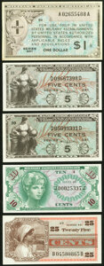 Military Payment Certificates Choice New or Better. Series 461 $1 First Printing; Two Series 481 5¢ First Printing/...