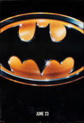 """Movie Posters:Action, Batman (Warner Bros., 1989). Rolled, Fine/Very Fine. One Sheet (27"""" X 40.5"""") SS Advance. Action.. ..."""