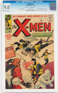 X-Men #1 (Marvel, 1963) CGC VF/NM 9.0 Off-white to white pages