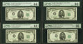 Small Size:Federal Reserve Notes, Seven $5 1950 Federal Reserve Notes. PMG Graded.. ... (Total: 7 notes)