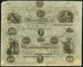 Obsoletes By State:Connecticut, New Haven, CT- Mechanics Bank $50-$100 18__ X2 Uncut Sheet Choice About Uncirculated.. ...