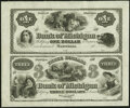 Obsoletes By State:Michigan, Marshall, MI- Bank of Michigan $1-$3 18__ X1 Uncut Sheet Extremely Fine.. ...