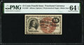 Fractional Currency:Fourth Issue, Fr. 1267 15¢ Fourth Issue PMG Choice Uncirculated 64 EPQ.. ...