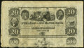 Obsoletes By State:New Hampshire, Portsmouth, NH- Piscataqua Exchange Bank $20 18__ Uncut Sheet Choice About Uncirculated.. ...