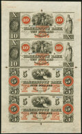Hagerstown, MD- Hagerstown Bank $10-$10-$5-$5 18__ Uncut Sheet Choice About Uncirculated