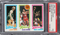 Basketball Cards:Singles (1980-Now), 1980 Topps Larry Bird/Julius Erving/Magic Johnson PSA NM 7. ...