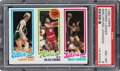 Basketball Cards:Singles (1980-Now), 1980 Topps Larry Bird, Julius Erving, Magic Johnson PSA NM-MT 8. ...