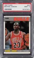 Basketball Cards:Singles (1980-Now), 1987 Fleer Michael Jordan #59 PSA Mint 9....
