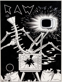 Charles Burns Raw Number 4 Couverture Originale (Raw Books & Graphics, Inc., 1982)