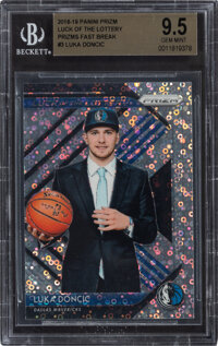 2018 Panini Prizm Luck of the Lottery Luka Doncic (Prizm Fast Break) #3 BGS Gem Mint 9.5