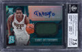 Basketball Cards:Singles (1980-Now), 2013 Panini Spectra Giannis Antetokounmpo (Rookie Jersey Autograph-Light Blue) #120 BGS NM+ 7.5, Auto10 - #'d 32/99. ...