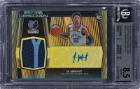 2019 Panini Obsidian Ja Morant #203 (Electric Etch Yellow) #203 BGS NM-MT+ 8.5, Auto 9 - #'d 2/10