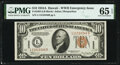 Small Size:World War II Emergency Notes, Fr. 2303 $10 1934A Hawaii Federal Reserve Note. PMG Gem Uncirculated 65 EPQ.. ...