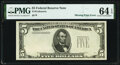 Error Notes:Missing Third Printing, Missing Third Print Error Fr. 196? $5 195? Federal Reserve Note. PMG Choice Uncirculated 64 EPQ.. ...