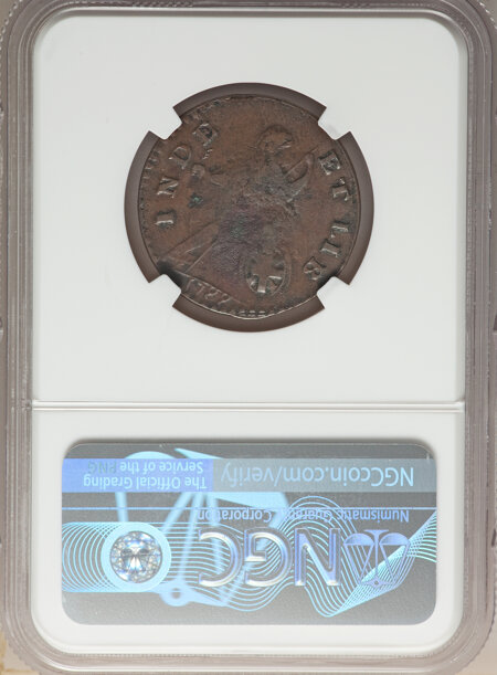 1787 Vermont Copper, Bust Right, BN 20 NGC