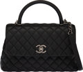 """Luxury Accessories:Bags, Chanel Black Lizard & Caviar Leather Small Coco Flap Bag with Ruthenium Hardware. Condition: 3. 11.5"""" Width x 7"""" Heigh..."""