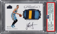 2016 Panini Flawless Nikola Jokic Momentous Patch Autograph #M-NJ PSA Gem Mint 10, Auto 9 - Serial Numbered 2/23