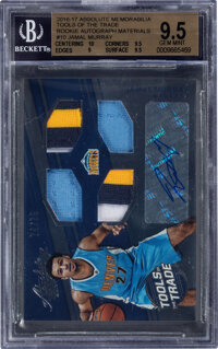 2016 Panini Absolute Memorabilia Tools Of The Trade Jamal Murray Rookie Autograph Materials #10 BGS Gem Mint 9.5, Auto 1...
