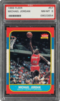 Basketball Cards:Singles (1980-Now), 1986 Fleer Michael Jordan #57 PSA NM-MT 8. ...
