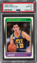 Basketball Cards:Singles (1980-Now), 1988 Fleer John Stockton #115 PSA Gem Mint 10....