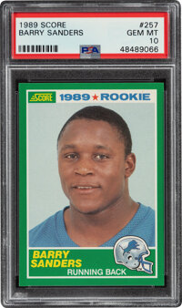 1989 Score Barry Sanders #257 PSA Gem Mint 10