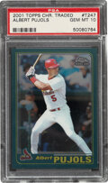 Baseball Cards:Singles (1970-Now), 2001 Topps Chrome Traded Albert Pujols #T247 PSA Gem Mint 10....